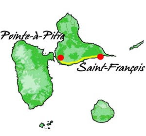 couleurs pays bungalows - guadeloupe - carte